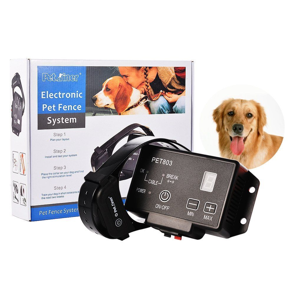 dog fence system training collar idealhouse wireless pet containment system with radio and ground cord electric transmitter and easy plug play setup