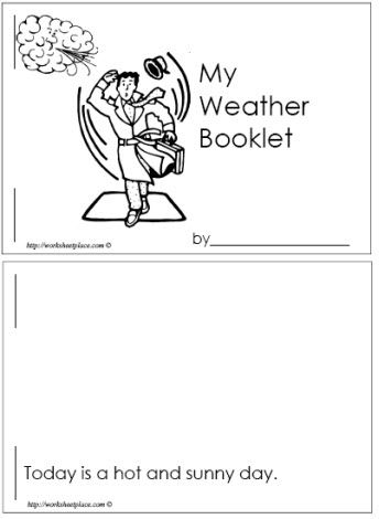 my weather booklet seasons weather k weather worksheets weather kindergarten. Black Bedroom Furniture Sets. Home Design Ideas
