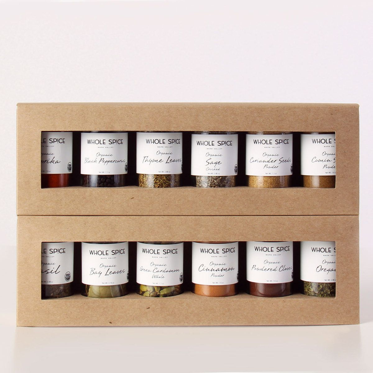 Organic Spice Rack Organic Spice Set  Foodie  Pinterest  Package Design Spices