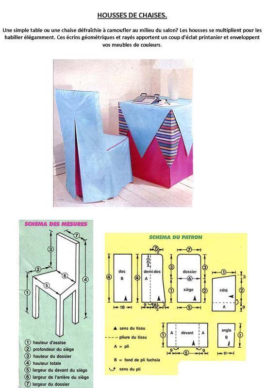 coudre des housses pour ses chaises patrons tutos. Black Bedroom Furniture Sets. Home Design Ideas