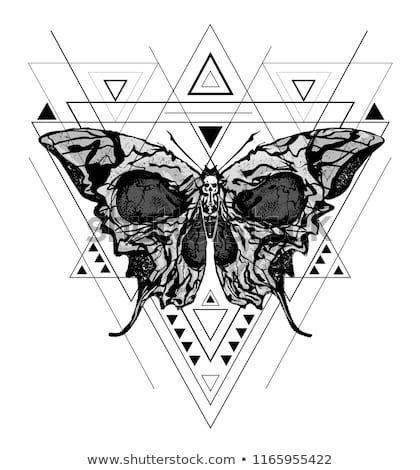 Skull butterfly. Greater Death Head Hawk Moth Vector Abstract Illustration …, #abstr …
