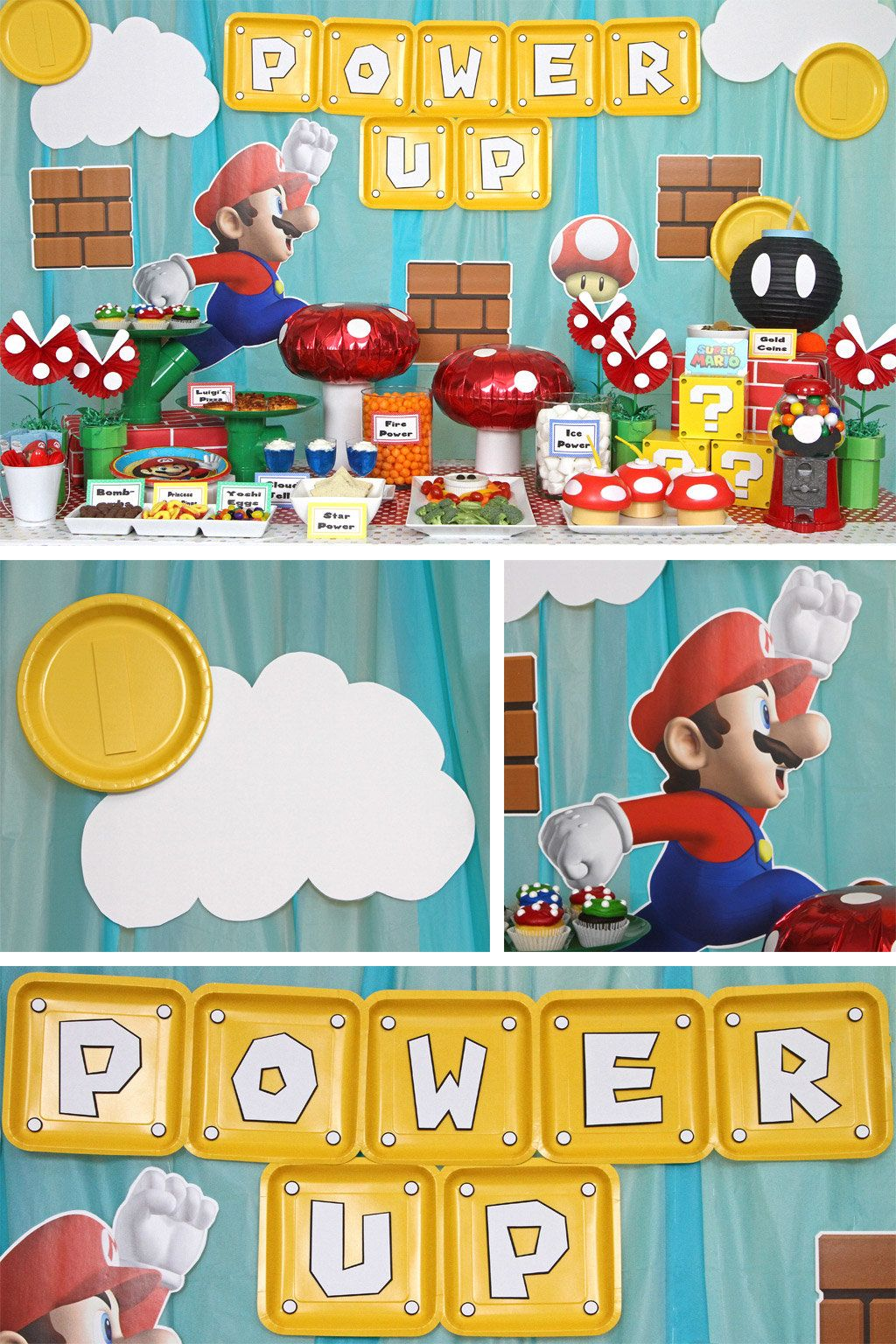 Super Mario Bros Party Ideas Twinss 2nd Birthday Mario And