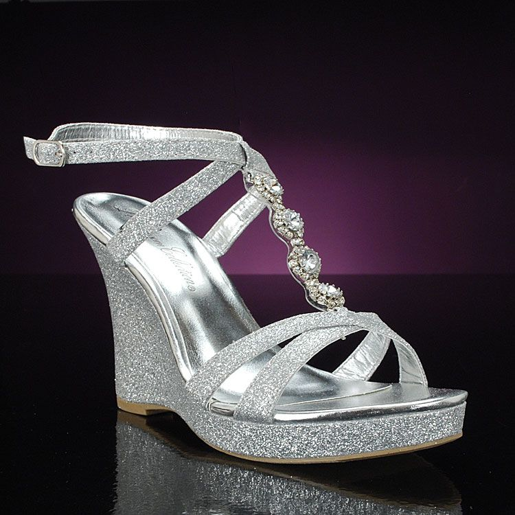 Silver Wedding Shoes Prom Shoes Silver Wedges Silver Wedding Shoes Silver Shoes
