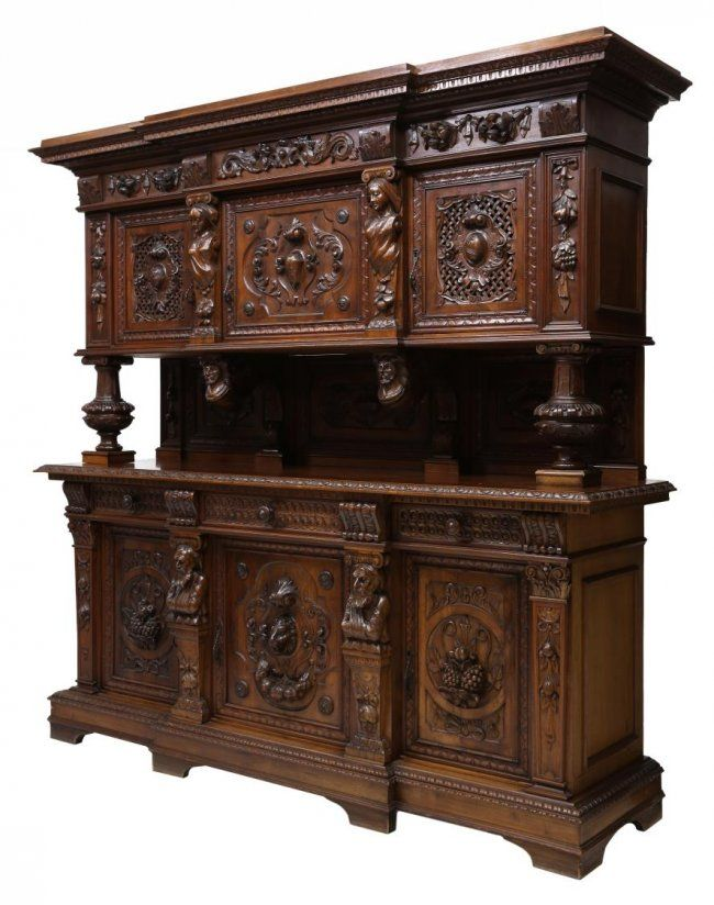 Italian Renaissance Revival Carved Sideboard Liveauctioneers