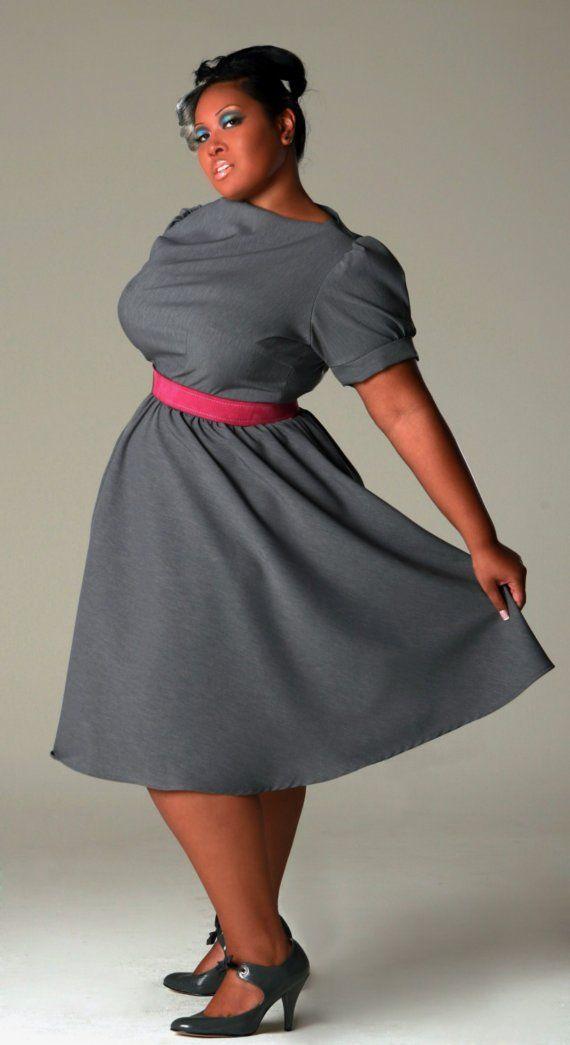 Grey Dress with Pink Belt | Fashion | Pinterest | Gray dress and Gray