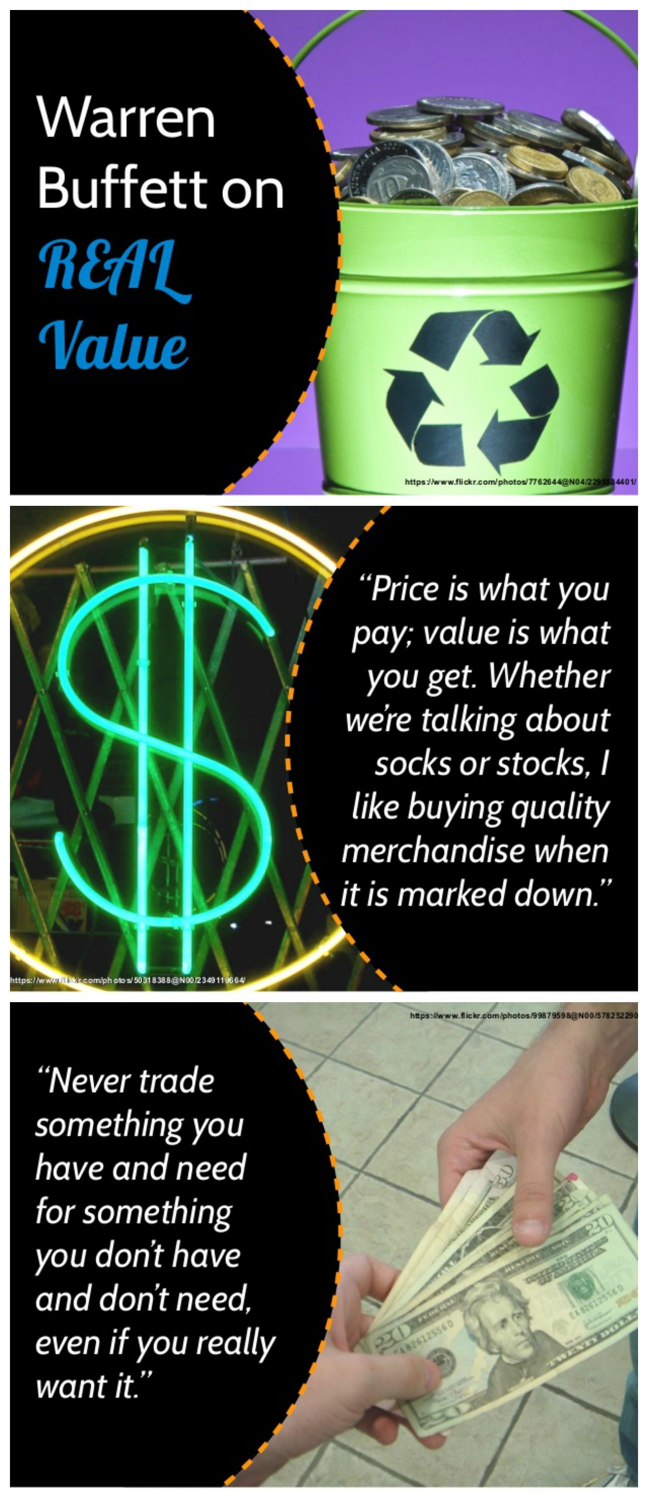 Get Money Quotes Warren Buffett On Real Value Business Investing Value Quotes Money