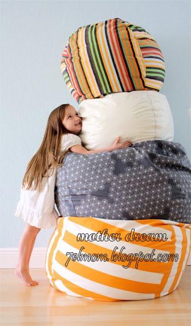 Mother Dream طريقه عمل كرسى البين باج Bean Bag Diy Bean Bag Sewing Projects Bean Bag Chair