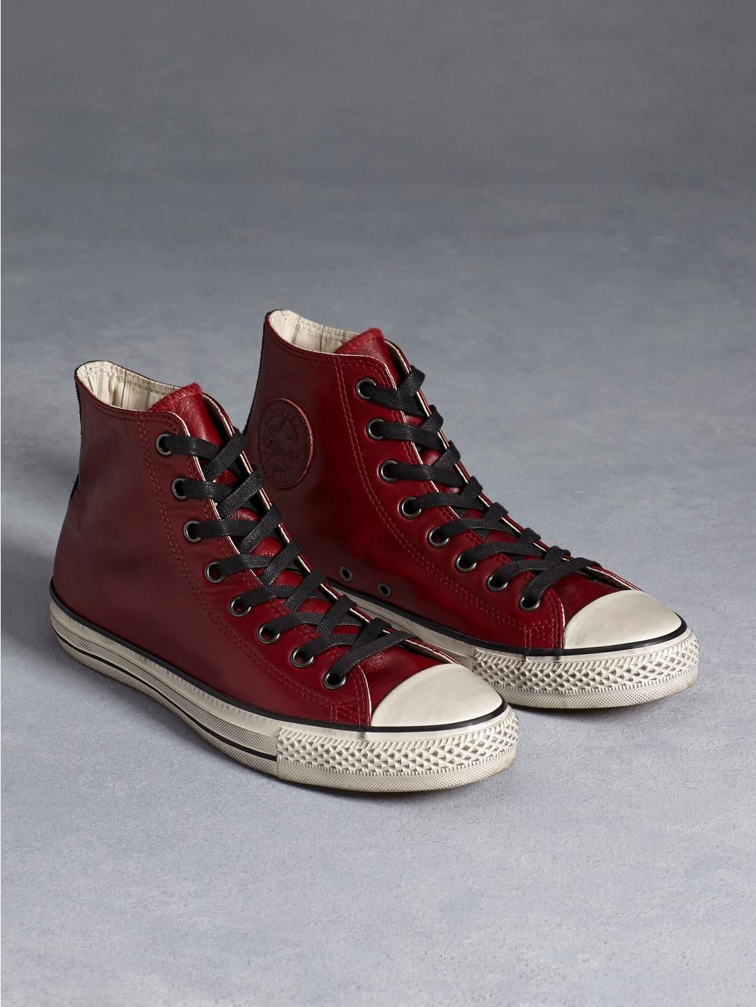 7efc4a353f85 All Star Burnished Leather Chuck Taylor in Oxblood - John Varvatos ...