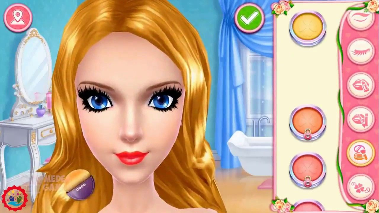 6 Baby Barbie Glittery Fashion Makeup Game Baby Barbie