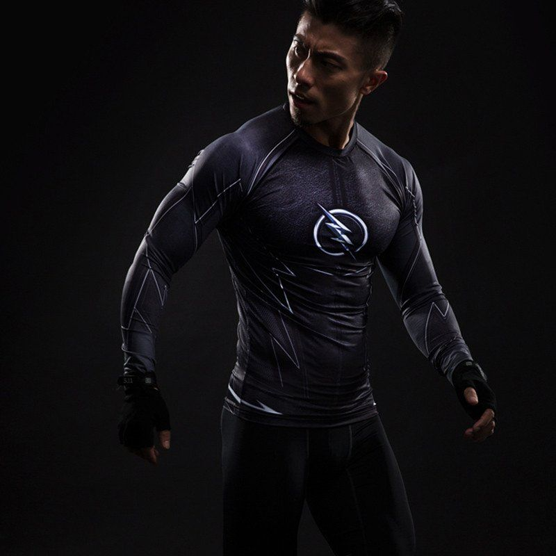 Mens Superhero Robin Costume Cosplay Compression Gym Workout Fitness T-shirt