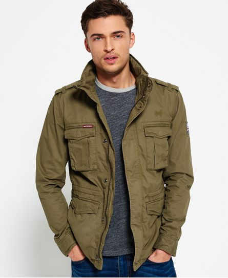 ba063ff1d06 Superdry Cazadora Rookie Military Verde