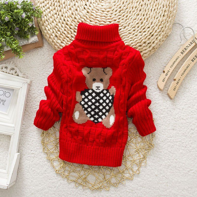 dc93995a7652 Knitted Warm Sweaters Baby Girls Boys