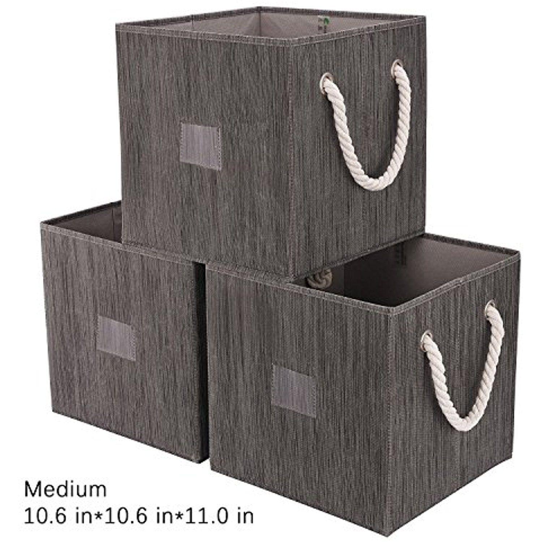 Storage Cube Box, Foldable Basket Organizer Bin With