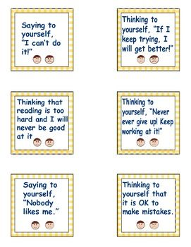 Good vs Bad Thoughts Lesson Cards to teach students ...