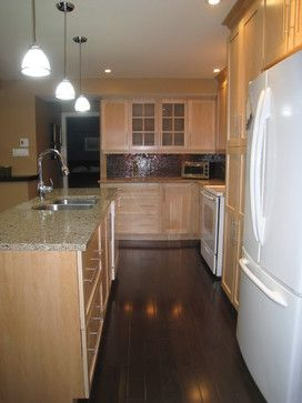 Blonde Cabinets Design Ideas, Pictures, Remodel, and Decor - page 15 on gray kitchen with oak cabinets, kitchens black cabinets, kitchens with blond wood floors, cherry wood kitchen countertops with white cabinets,