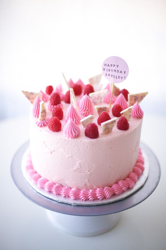 Happy Birthday Sis Raspberry Pink Birthday Cake Tutorial