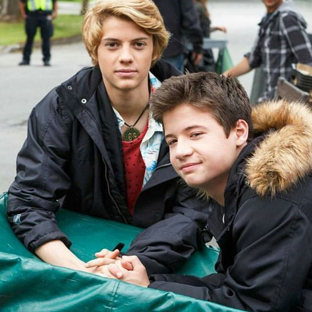 Jace Norman and Davis Cleveland in Rufus:2 Behind The Scenes Nickelodeon  Original Movie