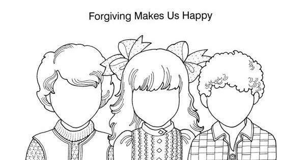 I Can Forgive Game And Coloring Page Sunday School Coloring Pages