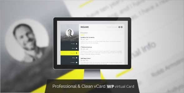 Download and review of Premium Layers WordPress vCard \ Resume - wordpress resume themes