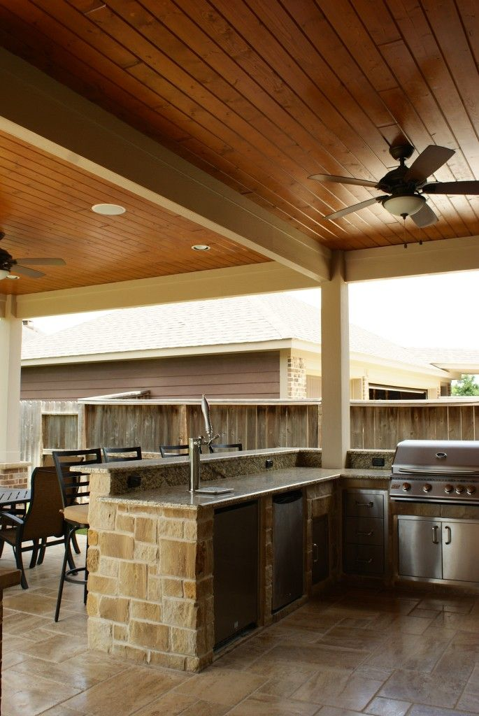 Small Custom Homes Texas Ranch Style Homes Custom Ranch Homes Design Interior Designs: Patio Cover Katy - Cinco Ranch West (With Images)