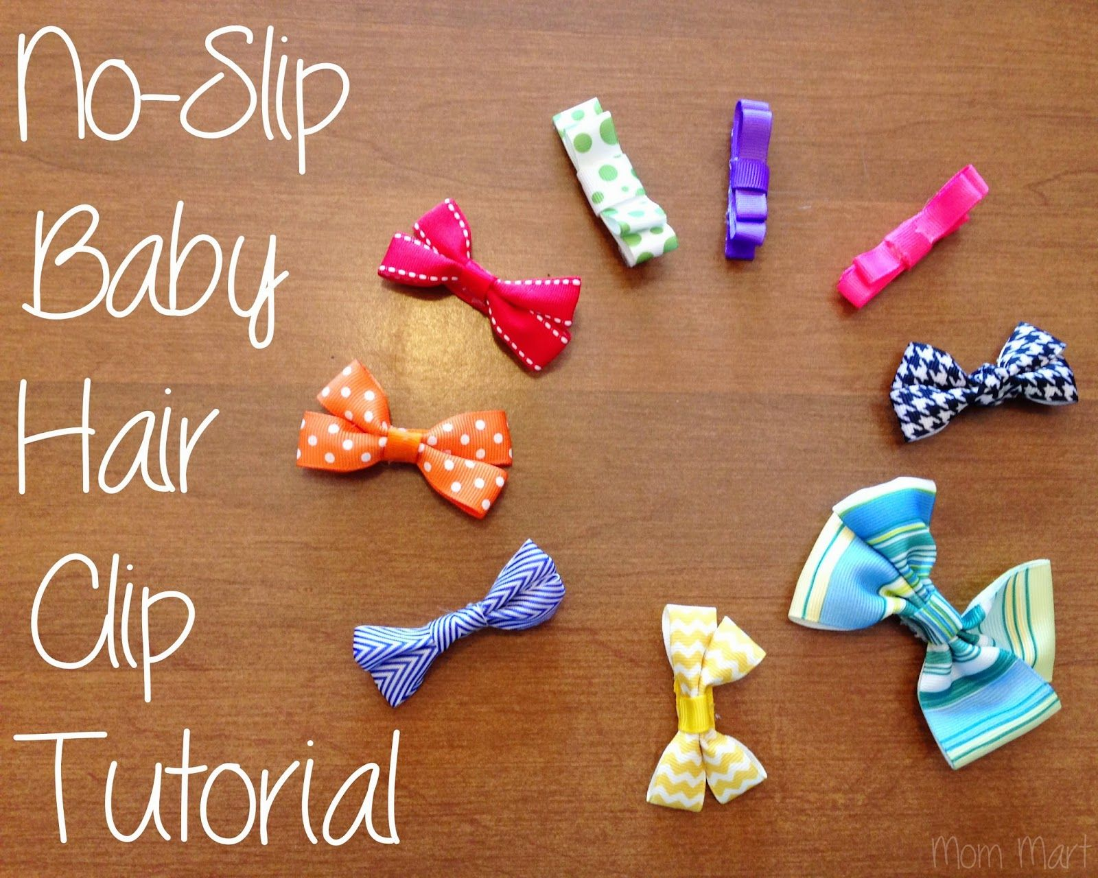 DIY baby hair clips with a no-slip grip, #DIY #Tutorial #Homemade #HairBow #babyhairaccessories