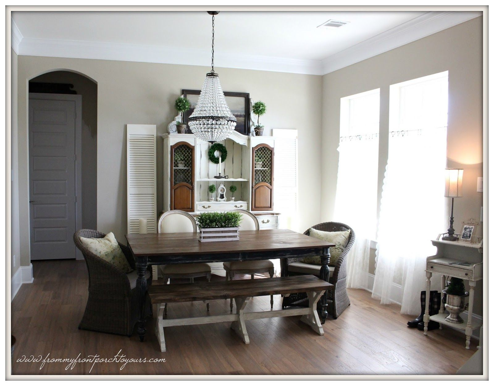 french farmhouse dining room-from my front porch to yours