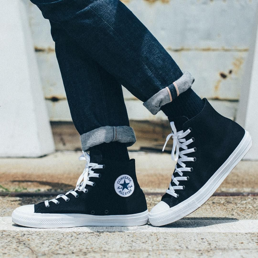 df53521c5 onfeet: @converse Chuck Taylor All Star II Black/White. Expect these ...