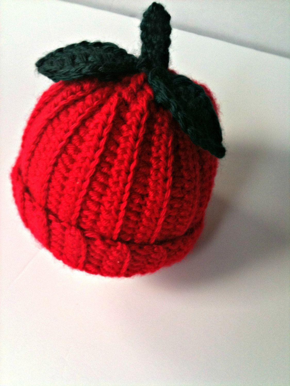 Crochet Baby Apple Hat | Crochet baby, Apple hat, Crochet ...