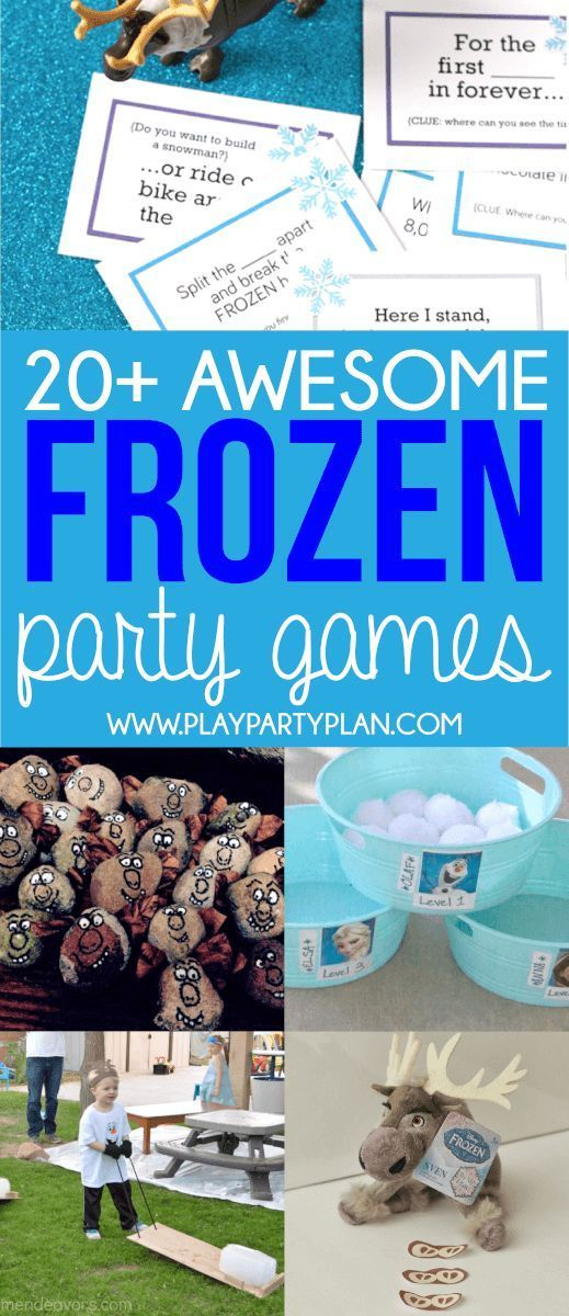 20 of the best Disney Frozen party games with everything from printable games to DIY games at home Love that the games include everyone from Sven O