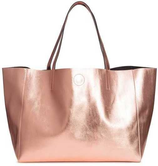 dd0455bff0 H M Shimmering Metallic Shopper Gucci Handbags