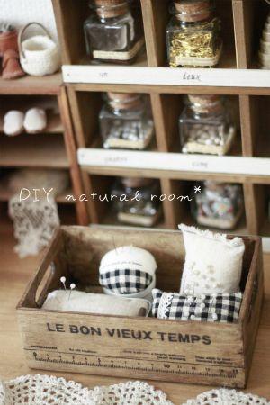 【リメイク】seriaのブリキトレイでピンクッション|DIY natural room*