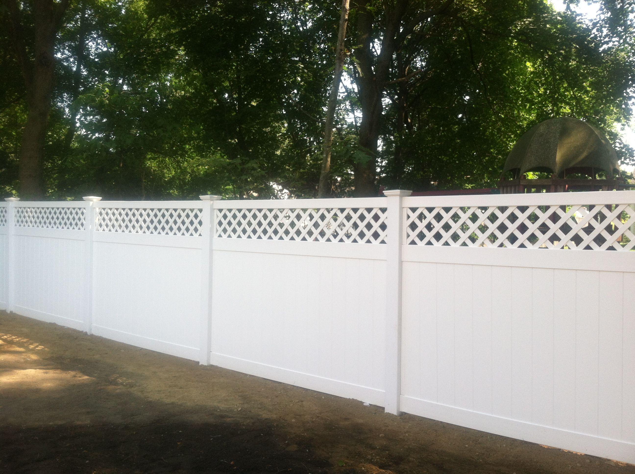 6 High White Pvc Diamond Lattice Top Fence Fence With Lattice Top Lattice Top Lattice