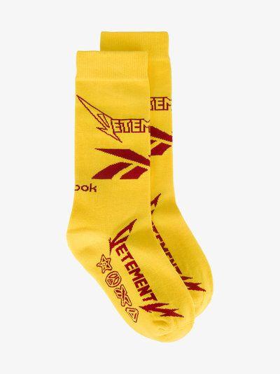 Vetements x Reebok heavy metal socks