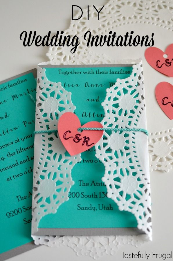 DIY Wedding Invitations with Cricut: Make your own invitations for ...