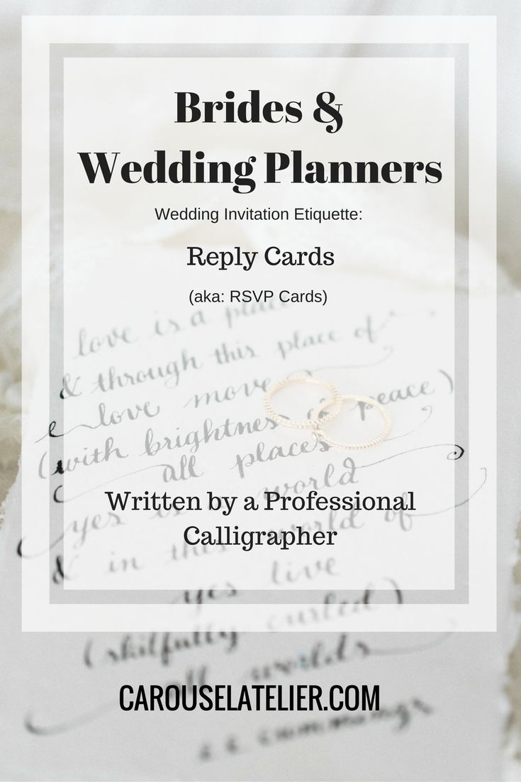 Etiquette for your Reply (RSVP) Cards.   Calligraphy Resources ...