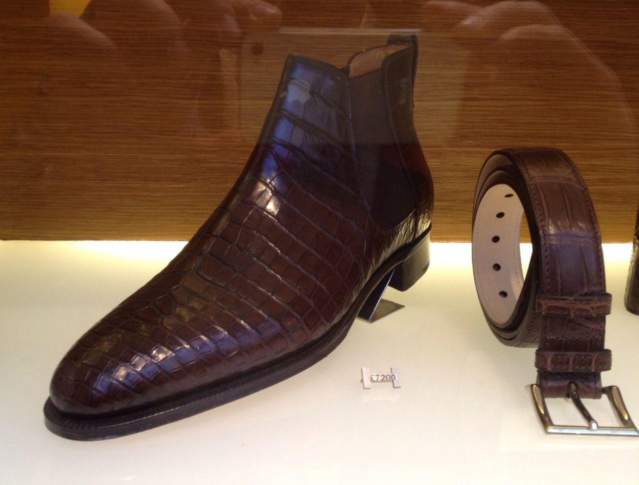 dandyshoecare: John Lobb Alligator Chelsea boot at £7200