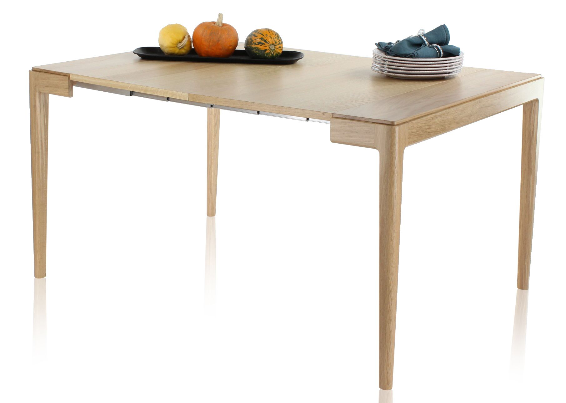 Console Extensible En Chene Blanchi Avec 2 Allonges Albatre Console Extensible Table Console Extensible Console Design