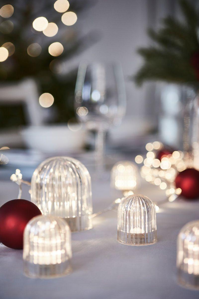 Neu Vinterfest Dekobeleuchtung Led Batteriebetrieben Transparent 5cm Gemutlicheweihnachten Ikea De Led Decorative Lights Light Decorations Ikea Christmas
