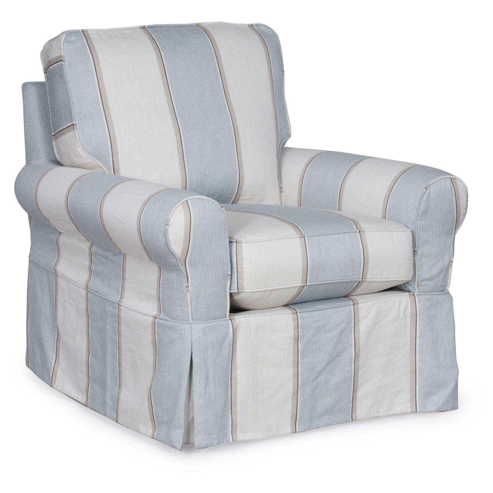 Astounding Sunset Trading Horizon Slipcovered Swivel Chair Indigo Blue Machost Co Dining Chair Design Ideas Machostcouk