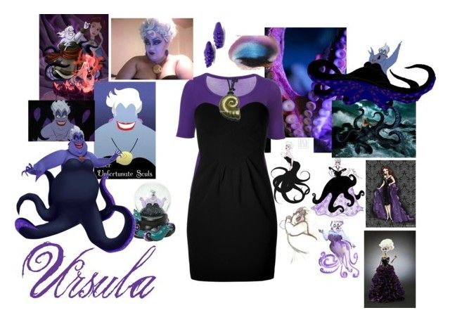 """""""Ursula-Elsa"""" by neverlands-disneybounders ❤ liked on Polyvore featuring Taking Shape, Moschino, Disney and ANNIE"""