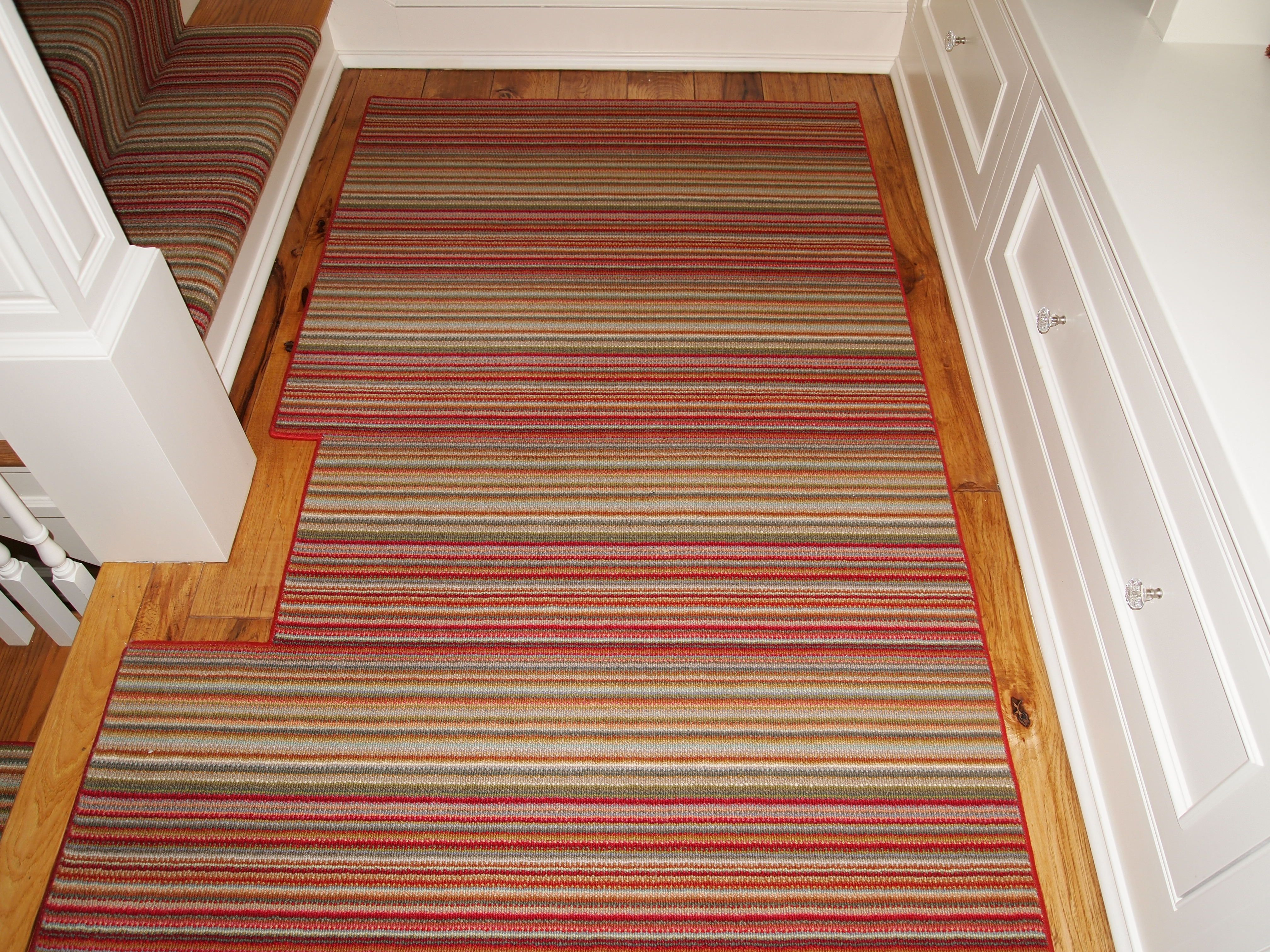 Have An Odd Shaped Landing What About A Custom Rug To Mimic The Shape By Russell Martin Carpets Buying Carpet Carpet Runner Long Carpet Runners