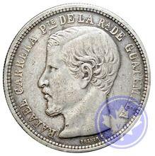 GUATEMALA-1863R-1 PESO-Carrera-TTB