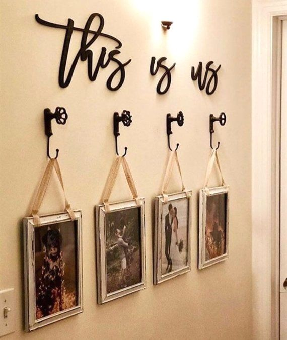 This is us, wood words, wood word cut out, laser cut, wedding gift, wooden wall art, home decor, wall decor, gift, realtor gift ideas, signs images