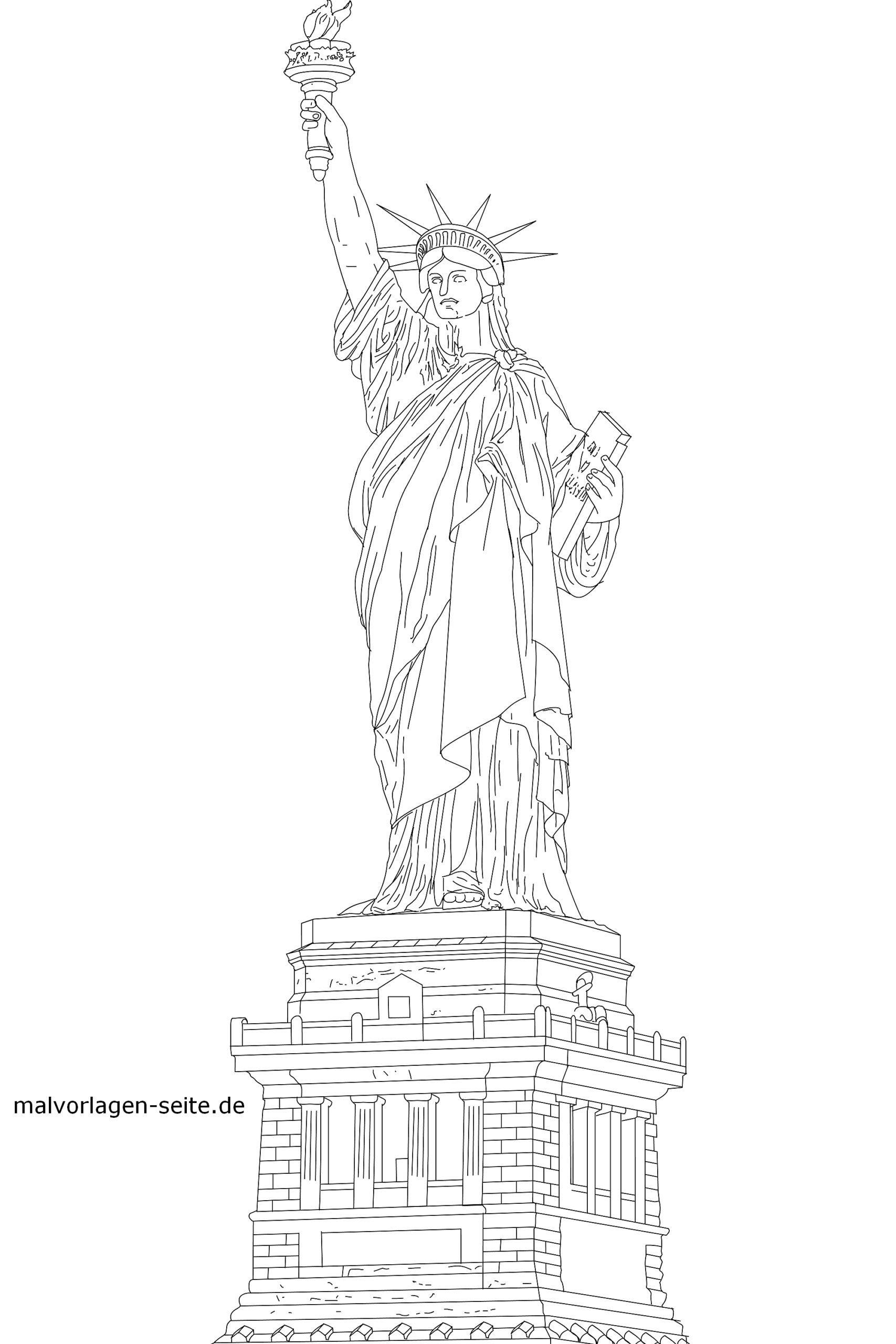 Malvorlage Statue Of Liberty Sehenswurdigkeiten Malvorlagen Mandala Malvorlagen Ausmalen