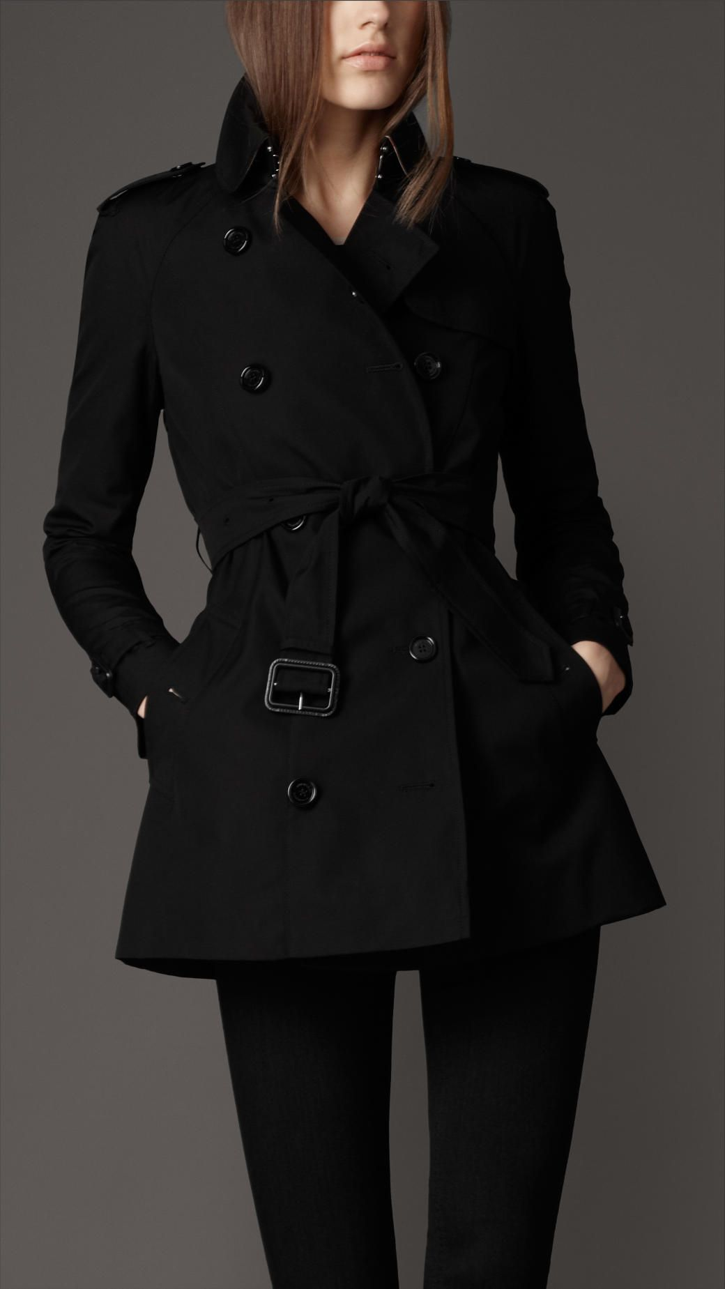 Burberry London Women's Short Cotton Rain Coat