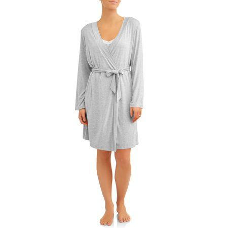c29dfedaa7d90 Nurture by Lamaze Maternity 2-Piece Nursing Chemise and Robe Set - Available  in Plus Size, Women's, Size: 1XL, Gray