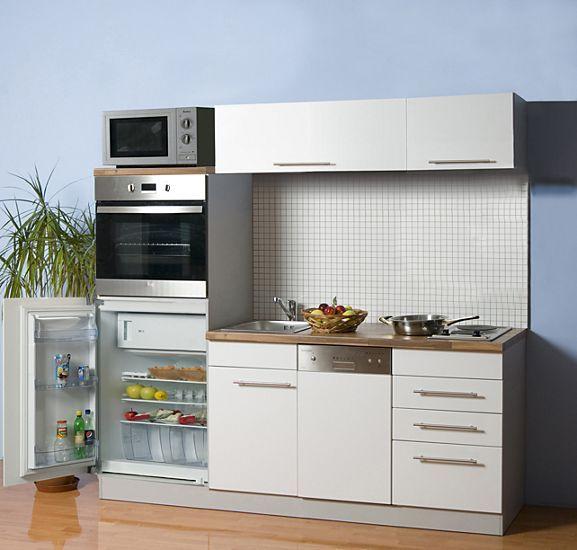 Küchenzeile Cucina Compact 200 cm inkl. E-Geräte + Glaskeramik ...