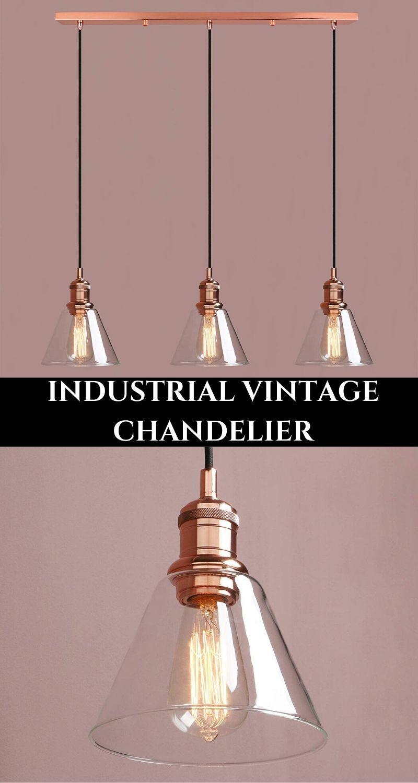 Vintage Chandelier. Industrial Style Lighting. In 2020