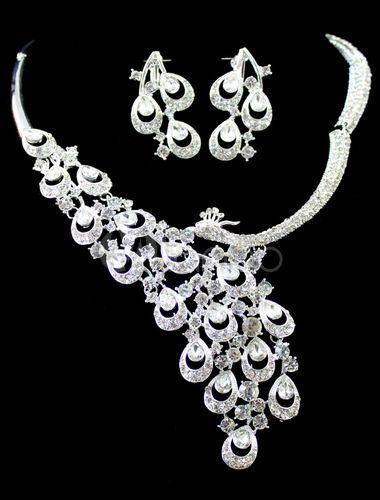 Set de joyería de metal blanco de alta calidad - Milanoo.com