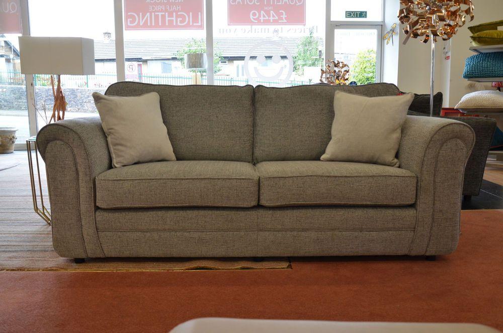 Devlin 3 4 Seater Sofa Pale Grey Fabric Inc Cushions Ashley Manor Ex Display Classic Furniture Home Decor Furniture